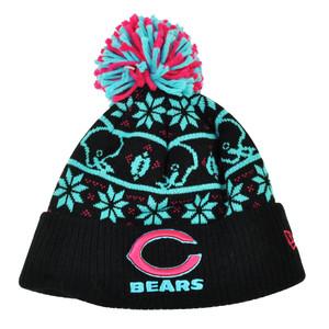 65dd6473790 NFL New Era Sweater Chill Chicago Bears Pom Pom Cuffed Knit Beanie Winter  Hat