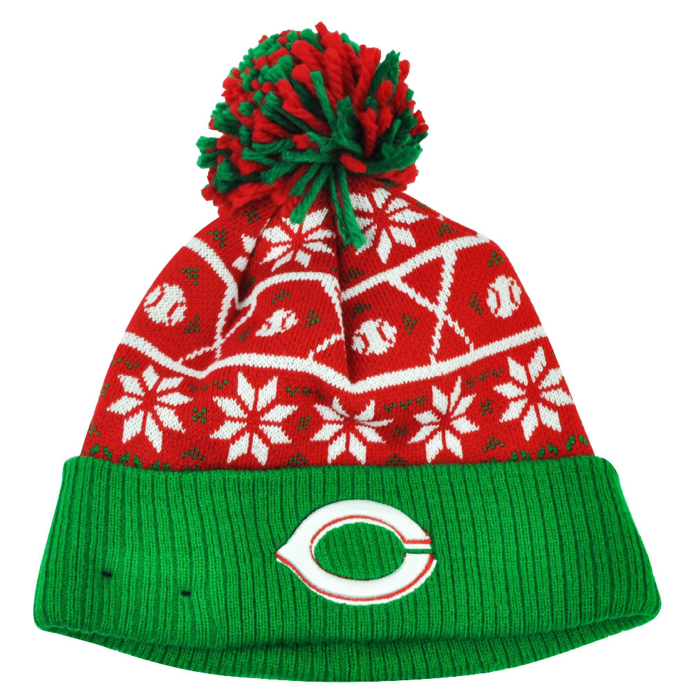4277d5598 MLB New Era Sweater Chill Cincinnati Reds Pom Pom Cuffed Knit Beanie Winter  Hat. Your Price   22.95 (You save  2.04). Image 1