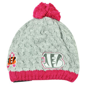 NFL New Era Breast Cancer Awareness Knit Beanie Cincinnati Bengals Pink Womens