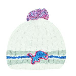 NFL New Era 14 Breast Cancer Awareness Womens Knit Beanie Detroit Lions Toque
