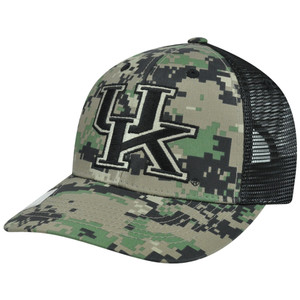 NCAA Kentucky Wildcats Digital Camo Camouflage Curved Bill Mesh Snapback Hat Cap