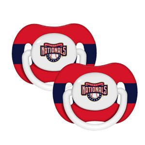 MLB Washington Nationals Pacifiers Silicone Red White Babies Infants Newborn