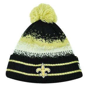 NFL New Era Spec Blend New Orleans Saint Cuffed Pom Pom Knit Beanie Hat Toque