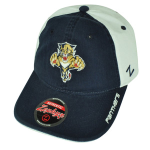 NHL Zephyr Letterman II Florida Panthers Two Tone Relaxed Clip Buckle Hat Cap