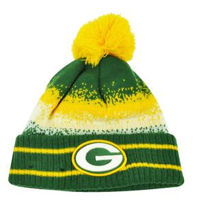 NFL New Era Spec Blend Green Bay Packers Cuffed Pom Pom Knit Beanie Hat Toque