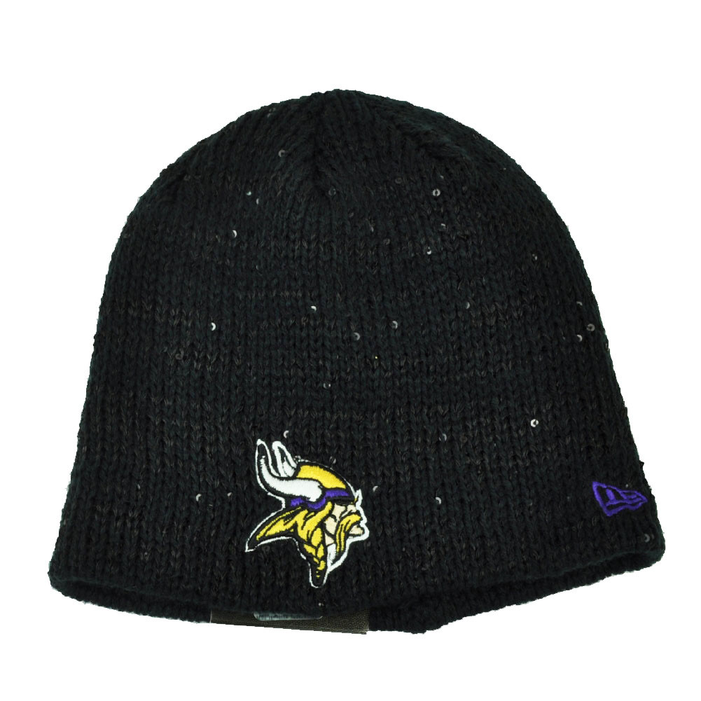 6ef1b7064af NFL New Era The Glistener Minnesota Vikings Sequins Cuffless Womens Knit  Beanie. Price   25.95. Image 1