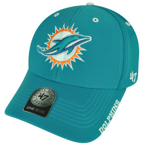 NFL '47 Brand Forty Seven Miami Dolphins Condenser  Hat Cap Turquoise