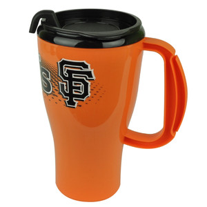 MLB San Francisco Giants Plastic Travel Tumbler16 Oz Mug Handle Coffee Cup Drink