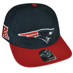 NFL '47 Brand Forty Seven New England Patriots Marvin Snapback Hat Cap Blue Red