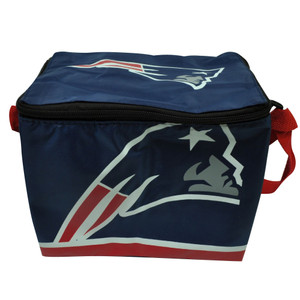 NFL New England Patriots Team Lunch Insulated Soft Sided Blue Red Printed Bag