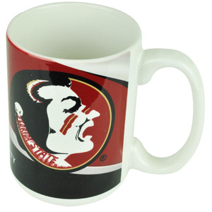 NCAA Florida Seminoles Ceramic Coffee Tea Sculpted Beverage Mug Cup Big Logo