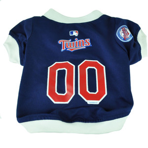 MLB Minnesota Twins Pet Gear Small Shirt Dog Puppy Apparel Blue Hunter Medium