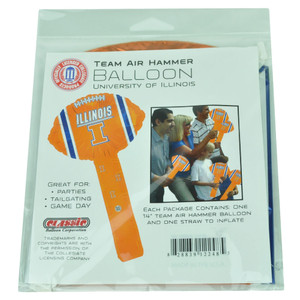 NCAA Illinois Fighting Illini Air Hammer Balloon Helium 14in Party Celebration