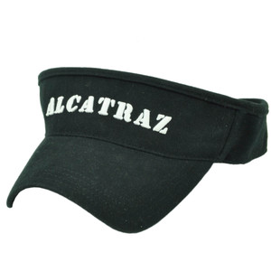 Alcatraz Island The Rock Prison California Sun Visor Black Hat State City Cali