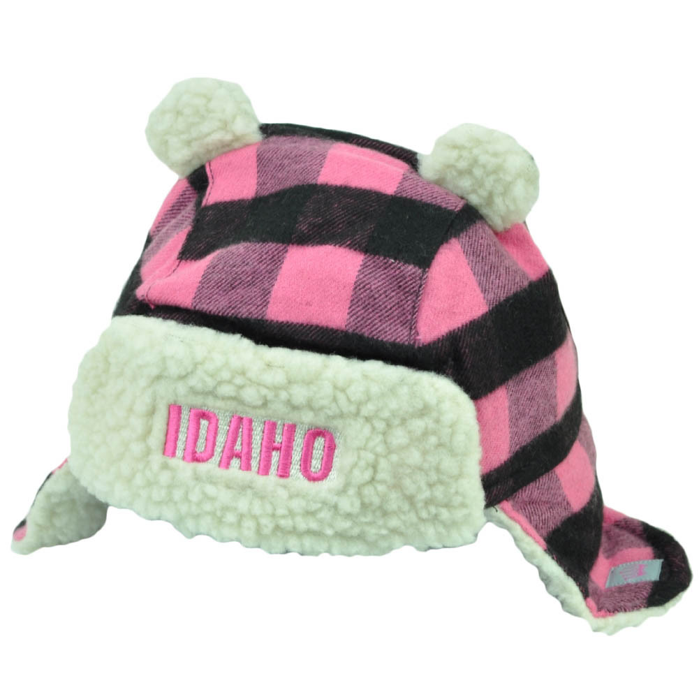 2ebd3f9ae2d Idaho Gem State USA Pink Black Plaid Toddler Knit Ear Flap Beanie Ears  Winter. Your Price   14.95 (You save  13.05). Image 1