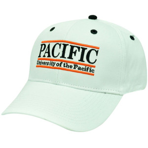 HAT CAP PACIFIC TIGERS SNAPBACK RETRO BAR WHITE ORANGE BLACK LICENSED GAME NCAA