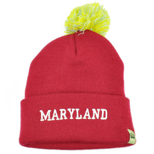 da3baba4bcd Kentucky State USA Women...om Sequin Fuzzy Striped  28.00  16.95. Maryland  Old Line State Cuffed Pom Pom Beanie Knit Hat Pink Polly Acrylic USA