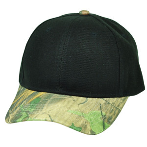Black Plain Blank Solid Camouflage Curved Bill Adjustable Hat Cap Green Outdoors