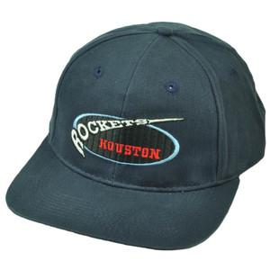 Houston Rockets Vintage Dead Stock Old School Blue Hat Cap Snapback Basketball