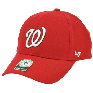 MLB 47 Forty Seven Brand Washington Nationals Red Hat Cap Adjustable Curved Bill