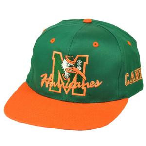 NCAA Miami Hurricanes Canes Old School Vintage Deadstock Snapback Hat Cap UM