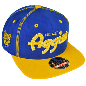 NCAA AACA American Needle North Carolina A&T Aggies Snapback Traxside Hat Cap