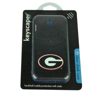 NCAA Georgia Bulldogs Samsung Galaxy S4 Hard Shell Case Logo Black Red