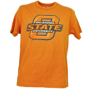 NCAA Oklahoma State Cowboys Orange Short Sleeve Mens Adult Short Sleeve Sports