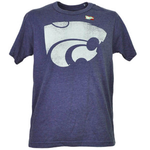 NCAA Kansas State Wildcats Distressed Logo Short Sleeve Purple Mens Tshirt Tee