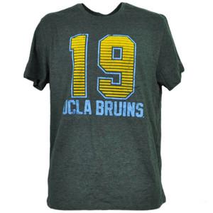 NCAA UCLA Bruins Felt 19 Gray Tshirt Tee Mens Adult Short Sleeve Crew Neck Sport