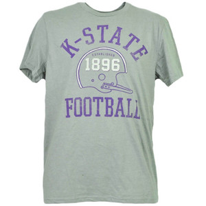 NCAA Kansas State Wildcats Helmet Football Tshirt Tee Short Sleeve Mens Adult