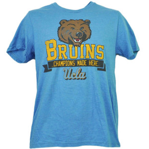 NCAA UCLA Bruins Champions Made Here Baby Blue Tshirt Tee Mens Adult Sports