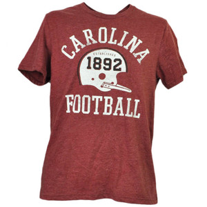 NCAA South Carolina Gamecocks 1892 Football Helmet Tshirt Tee Mens Burgundy
