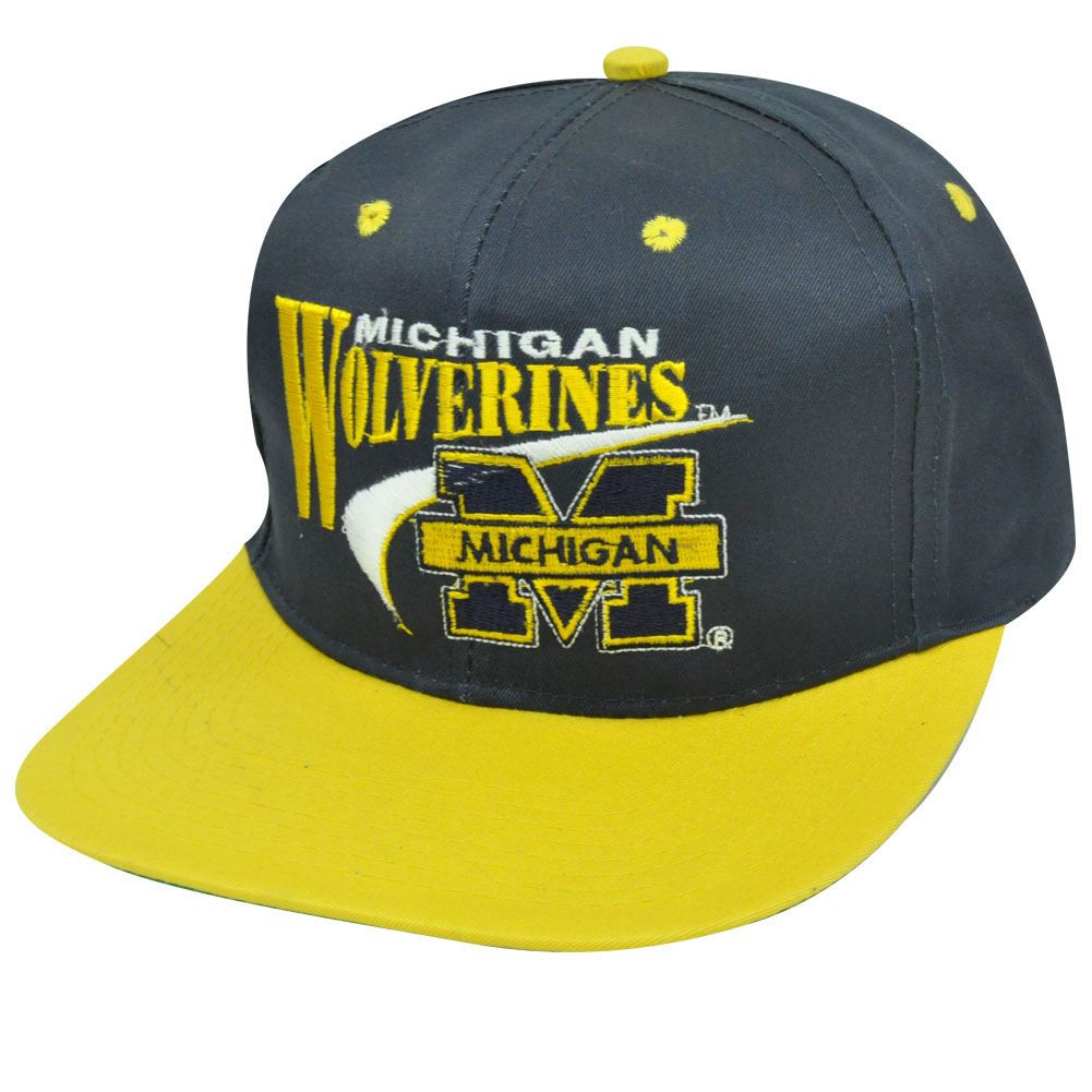 NCAA MICHIGAN WOLVERINES VINTAGE SNAPBACK FLAT BILL HAT. Your Price   27.95  (You save  2.04). Image 1. Larger   More Photos 66277927b411
