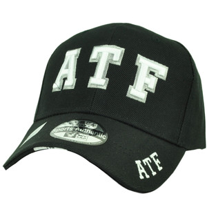 ATF Alcohol Tobacco Firearms Agency Hat Cap Black Curved Bill Law Enforcement