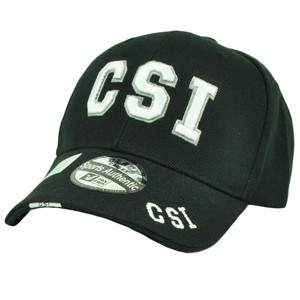 CSI Crime Scene Investigation Department Law Enforcement Hat Cap Black White
