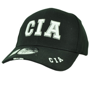 CIA Central Intelligence Agency Crime Law Enforcement Hat Cap Black Curved Bill