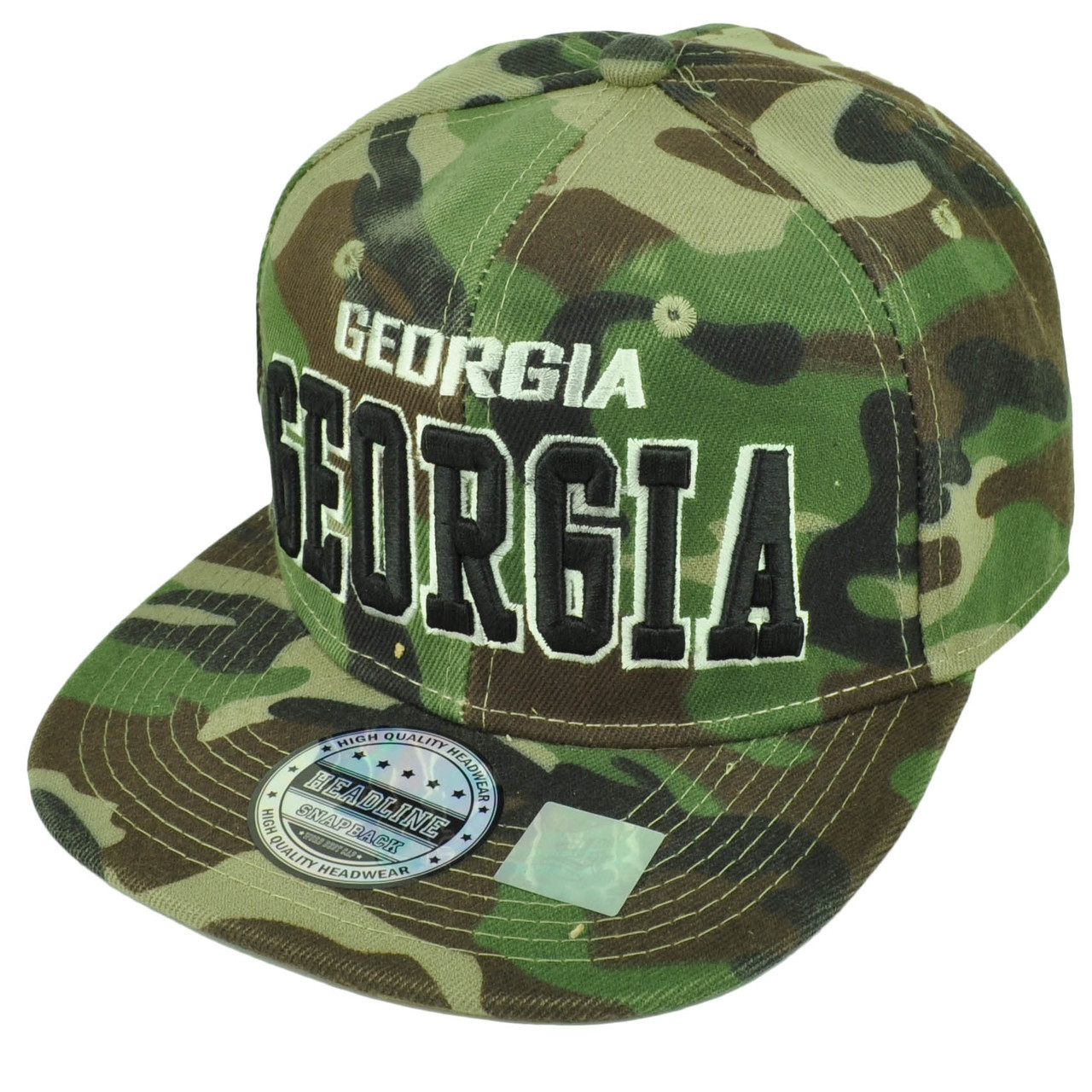 83bd462ab2d ... Camouflage Camo Snapback Flat Bill Hat Cap Green GA. Your Price   15.95  (You save  12.05). Image 1
