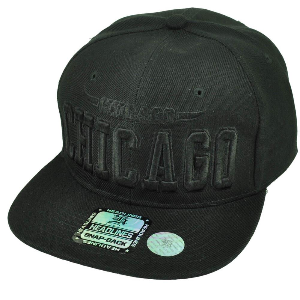 new products d99c9 8c9f7 ... greece chicago chi town windy city black horns hat cap snapback flat  bill ad61f 0f207