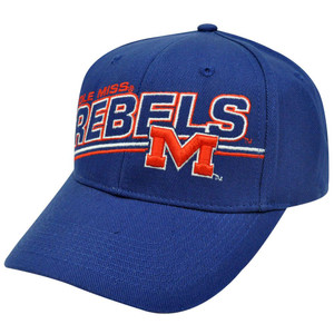 NCAA OFFICIAL OLE MISSISSIPPI REBELS CAP HAT NAVY BLUE