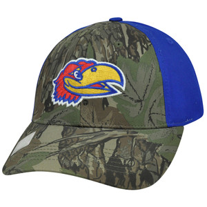 NCAA Kansas Jayhawks Freshman Camouflage Adjustable Curved Bill Camo Hat Cap
