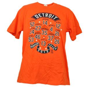 Detroit Tigers Pennant Fever 2012 Verlander Jackson Berry Players Orange Tshirt