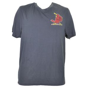 Red Jacket St Louis Cardinals Navy Blue Tshirt Tee Mens V Neck Short Sleeve