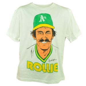 Wright Ditson Rollie Fingers Oakland Athletics Player Medium Tshirt Tee White