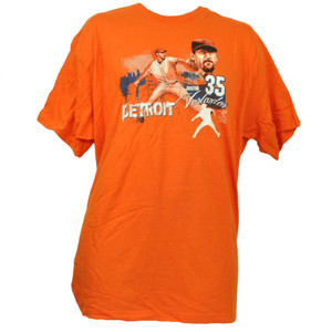 Detroit Tigers Justin Verlander 35 Orange Tshirt Tee XLarge Mens Short Sleeve