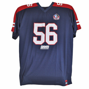 Majestic Hall of Fame New York Giants Lawrence Taylor 56 Jersey Big Tall Blue