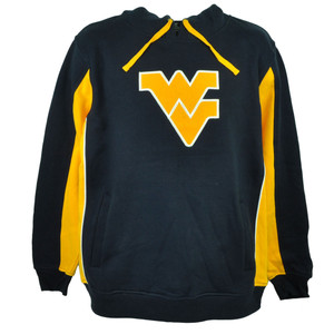 NCAA Colosseum West Virginia Mountaineers Hoodie Navy Blue Yellow Mens Sweater
