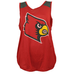 NCAA Colosseum Louisville Cardinals Red Womens Jersey Mesh Tank Top Ladies