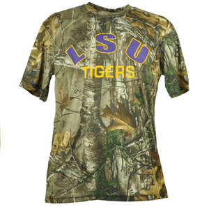 NCAA Colosseum Louisiana State Tigers LSU Mens Tshirt Tee Camouflage Realtree