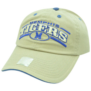 NCAA Memphis Tigers Garment Washed Slouch Relaxed Velcro Curved Bill Hat Cap